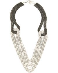 Lulu Frost Quixotic Crystal Layered Necklace - Black