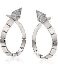 Anapsara New Temptation 18k White Gold Diamond Earrings