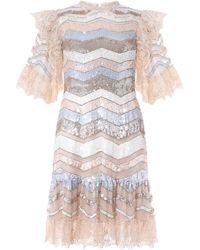 Needle & Thread Alaska Sequin Mini Dress - Pink
