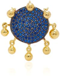 Joanna Laura Constantine - Gold Plated-brass And Cubic Zirconia Ring - Lyst