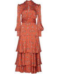 Johanna Ortiz Atypical Tropics Tiered Ruffle Crinkle Georgette Maxi Dress