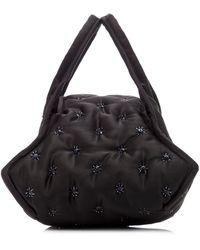 Khaore Pillow Quilted Satin Bag - Black