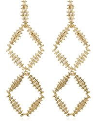 Rosantica - Voluttà Double Gold-tone Brass Earrings - Lyst
