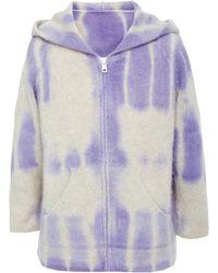 The Elder Statesman Lsd Dyed Kids Zip Up Hoodie - Purple