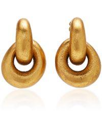 Monies - Havana Gold-plated Clip Earrings - Lyst