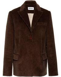 Partow - Owen Collared Corduroy Cotton Blazer - Lyst