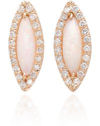 Kimberly Mcdonald - 18k Rose Gold, Opal And Diamond Earrings - Lyst
