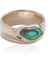 Pamela Love Palma Sterling Silver Cigar Ring - Metallic