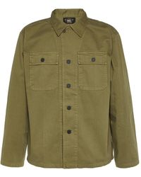 RRL Cotton-twill Military Button-up Shirt - Green