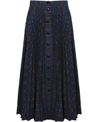 Dalood - Plaid Midi Skirt - Lyst