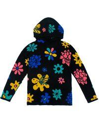 The Elder Statesman Sound Flowers Cashmere Hoodie - Black
