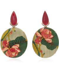 Silvia Furmanovich - Marquetry Pink Flower Earrings - Lyst