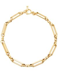 Brinker & Eliza Checkmate 24k Gold-plated Brass Link Necklace - Metallic