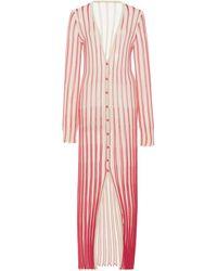 Jacquemus La Robe Jacques Cotton-knit Maxi Dress - Pink