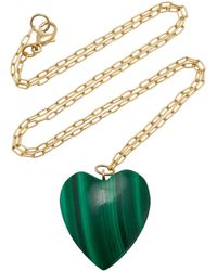 Haute Victoire - 18k Gold And Malachite Necklace - Lyst