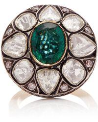 Amrapali - 14k Gold, Emerald, And Diamond Ring - Lyst