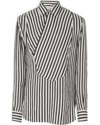 Givenchy - Asymmetrical Stripe Dress Shirt - Lyst