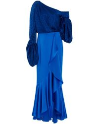 Hellessy Sigrid Jacquard Dress - Blue