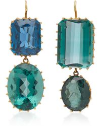 Renee Lewis - Antique Synthetic Spinel And Green Quartz Earrings - Lyst