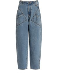 Philosophy Di Lorenzo Serafini Rigid High-rise Tapered-leg Jeans - Blue