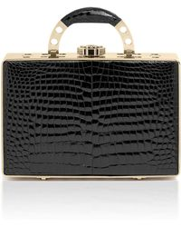 "Bougeotte   Titanium ""best Secret Keeper"" Midi Case In Black Crocodile   Lyst"