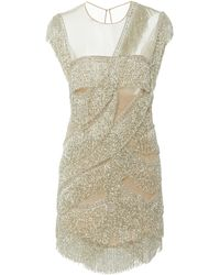Naeem Khan Fringe-accented Dress - Metallic