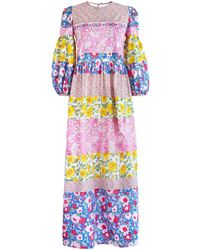 Alix Of Bohemia Jemima Patchwork Dress - Multicolour