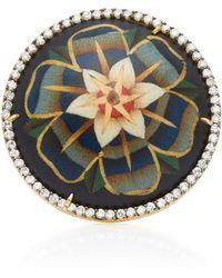 Silvia Furmanovich - Blue Marquetry Flower Ring - Lyst