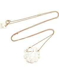 Ginette NY - M'onogram Gold Lace Pendant Necklace - Lyst