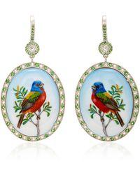 Axenoff Jewellery - Thorn Birds Silver Drop Earrings - Lyst