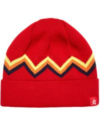 Perfect Moment Zig Zag Wool-blend Beanie - Red