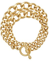 Brinker & Eliza Heavy Metal 24k Gold-plated Chain Wrap Bracelet - Metallic