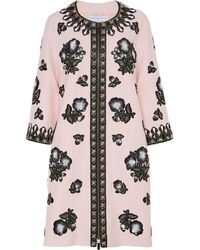 Andrew Gn Embellished Crepe Jacket - Pink