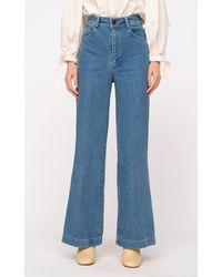 Sea Alyssa Rigid Mid-rise Straight-leg Jeans - Blue