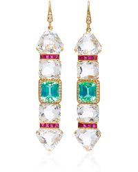 Hanut Singh - One-of-a-kind Ice Crystal Stick Earrings - Lyst
