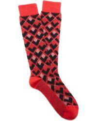 Rochas - Calzino Intarsia-knit Mohair-blend Socks - Lyst