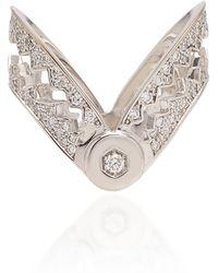 Akillis Capture Me 18k Gold Diamond Ring - White