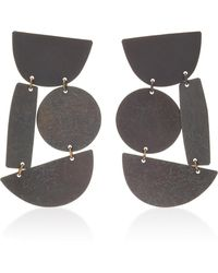 Annie Costello Brown - Masha Oxidized Brass Earrings - Lyst