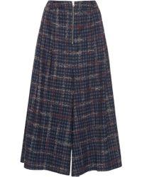 Mrz Pleated Wide Leg Culottes - Blue