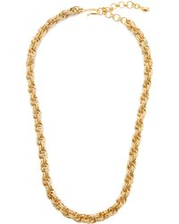Brinker & Eliza Chain Reaction 24k Gold-plated Necklace - Metallic