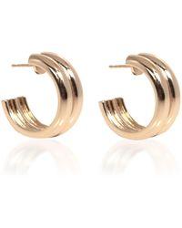 Young Frankk Varro Gold-plated Hoop Earrings - Metallic