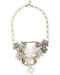 Lulu Frost One-of-a-kind Gold-plated Enamel And Crystal Necklace - Metallic