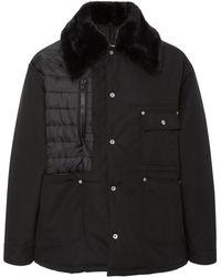 Maison Margiela - Cordura Faux Fur-trimmed Shell Jacket - Lyst