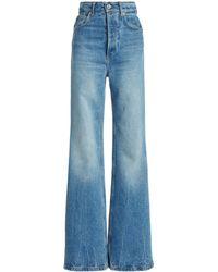 Paco Rabanne Rigid High-rise Bootcut Jeans - Blue