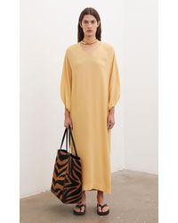 By Malene Birger Dypsis Semi-sheer Maxi Dress - Multicolour