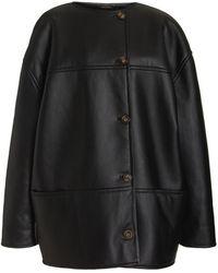 Loulou Studio Pelado Shearling Coat - Black