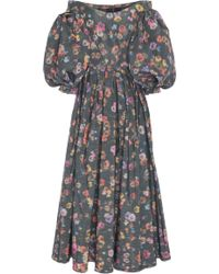 Zac Posen - Off-the-shoulder Floral Printed Gown - Lyst