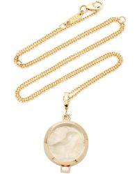 Azlee Owl Of Athena Small White Venetian Glass Coin Necklace