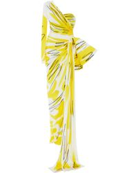 Moschino Scribble Print Gown - Yellow