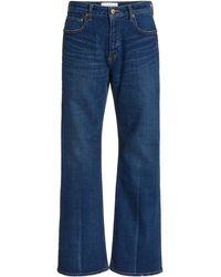Tu Es Mon Tresor Amethyst Stretch Mid-rise Flared-leg Jeans - Blue